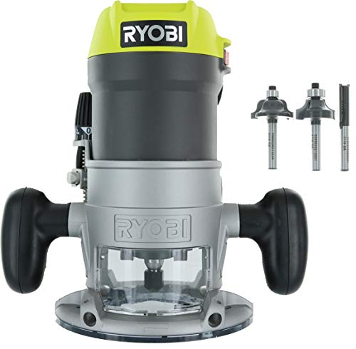 Ryobi R1631K 1-1/2 Peak HP 8.5 Amp LED Lit Corded Router Including 3 Piece Bit Set (w/ Tool Bag) US Review