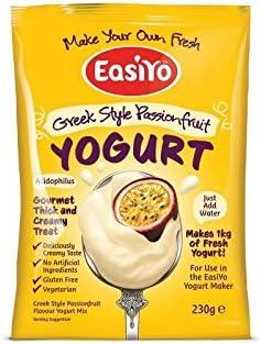 Easiyo Greek & Passionfruit Premium Yoghurt Mix 230g (Pack of 6)