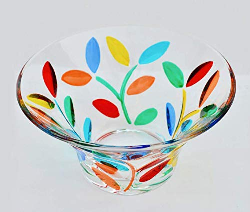 s Flowervine Candy Bowl - Authentic Hand Made Murano Glass from Italy ()