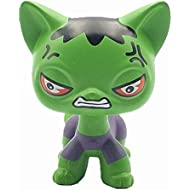 Cute Angry Green Cat Collection Child Girl Cat Figure Toy