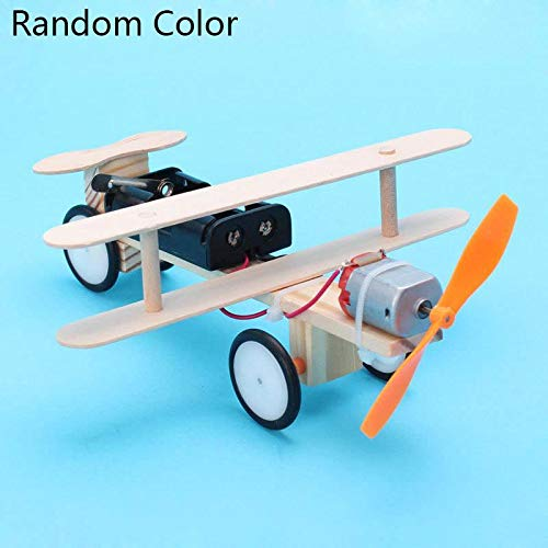 ThinIce DIY Wood Airplanes Electric Biplane Glider DIY Technology Small Production Children Science Small Invention Small Handmade Educational Toys