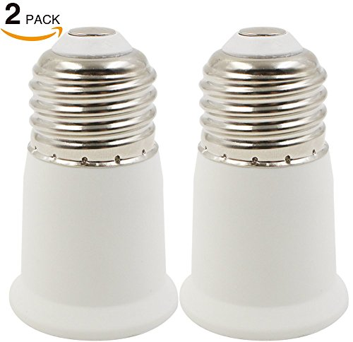 TORCHSTAR 2 Pack E26 to E26 Extender Adapter, E26 to E26 Edi