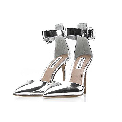Donna Tacco 10 Desire Silver argento Steve PE18 Scarpe Madden 4TzqwWEg