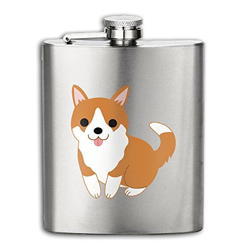 Cute Pugs In My Pocket Flasks Stainless Steel Liquor Flagon Retro Rum Whiskey AlcoholPocket Flask Liquor Flagon Retro Rum Whiskey Flask Great Gift 7OZ (Pictures Of Pugs In Costumes)