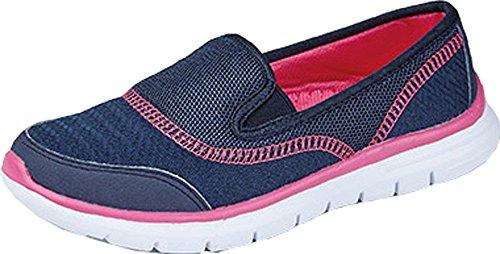 Womens Go Walking Get Fit Trainers Sport Shoes Athletic Walk Shoes Sport Gym DEK (UK 5, Navy)