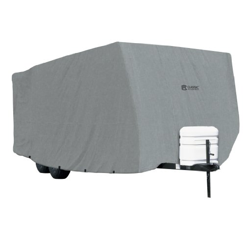 Classic Accessories OverDrive PolyPRO 1 Travel Trailer RV Cover, Fits up to 20' RVs - Breathable and Water Repellant Travel Trailer Cover (Rv Trailer Covers)