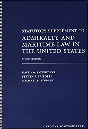 Statutory Supplement to Admiralty and Maritime Law in the United States, Third Edition