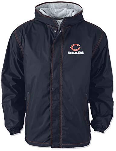 - Dunbrooke Apparel NFL Chicago Bears Legacy Nylon Hooded Jacket, Medium, Navy