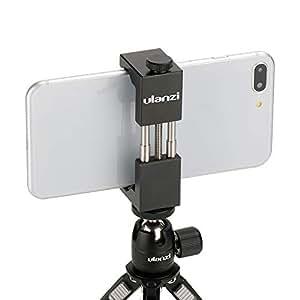 Ulanzi Metal Smartphone Clamp Mount Adapter for iPhone XS X Max 7 Plus Samsung, HUAWEI, universal phone holder Aluminum