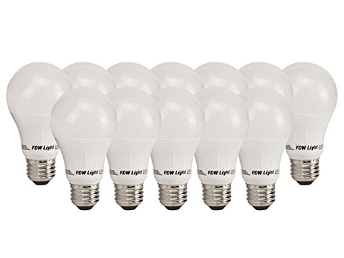 60 Watt Equivalent Slim Style A19 LED Light Bulbs - Soft White 3000K - 12 Pack