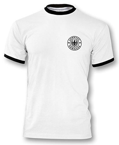 EM 2016 Deutschland Trikot Fanshirt Retro-Look Motiv 6 Herren 1960er Trikot