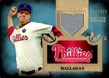 2011-topps-tier-one-relics-tsr10-roy-halladay-game-worn-jersey-baseball-card-only-399-made