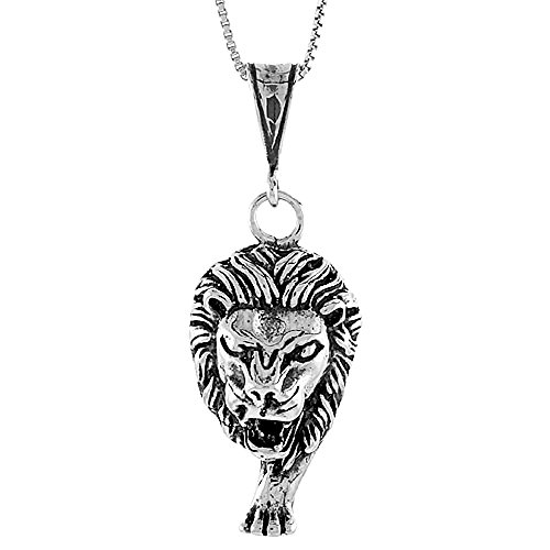 Sterling Silver Large Lion Pendant
