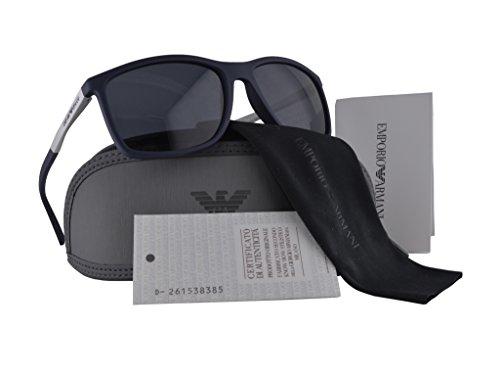 2b6872def9d33 Emporio Armani EA 4058 Sunglasses Dark Blue Rubber w Gray Lens 5474 87  EA4058 For Men  Amazon.ca  Clothing   Accessories
