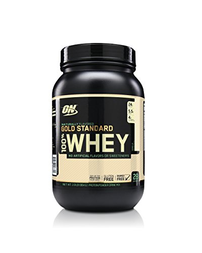 (OPTIMUM NUTRITION GOLD STANDARD 100% Whey Protein Powder, Naturally Flavored Vanilla, 1.9 Pound)