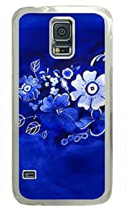 Delft Floral Samsung Galaxy S5 Hard Shell with Transparent Edges Cover Case by Lilyshouse by mcsharks
