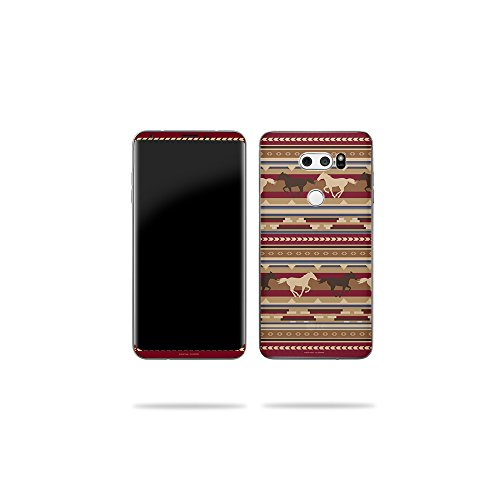 Price comparison product image MightySkins Skin Compatible with LG V30 - Western Horses / Protective,  Durable,  and Unique Vinyl Decal wrap Cover / Easy to Apply,  Remove,  and Change Styles / Made in The USA