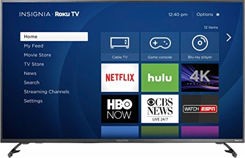 "Insignia - 43"" LED - 2160p - Smart - 4K Ultra HD Roku TV 2-3 Day Shipping"
