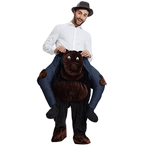 YEAHBEER Piggyback Ride On Riding Shoulder Adult Costume Carry Me Unisex Fancy Dress -