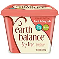 Earth Balance Soy Free Buttery Spread, Non-GMO Project Verified, Vegan, Keto Friendly, 15 Ounce Tub