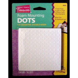 (Foam Mounting Dots Double Sided 1/4