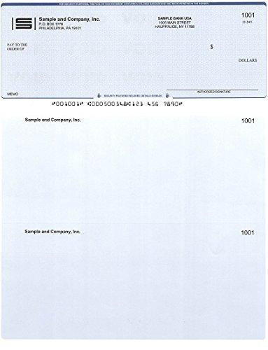 Computer Checks - 300 Printed Computer Checks - Check on Top - Compatible for - Checks Business Laser