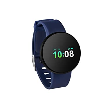 ALKINW Reloj Inteligente Smart Watch Passometer Monitor Monitor De Frecuencia Cardíaca Impermeable Smartwatch para Bluetooth Relojes Inteligentes Azul: ...