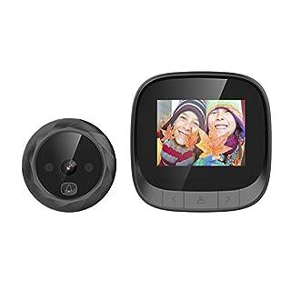 """OWSOO Smart Door Viewer,Doorbell Viewer,Video Doorbell,2.4"""" TFT Digital Peephole Viewer,Door Eye,Doorbell with Camera,Door Camera Monitor,IR Night Vision,Photo Taking for Home Security"""
