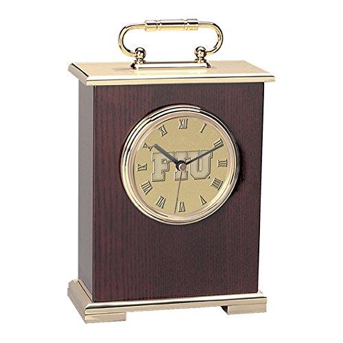 Florida Panthers Clock - NCAA Florida International Golden Panthers Adult Le Grande Carriage Clock, One Size, Gold