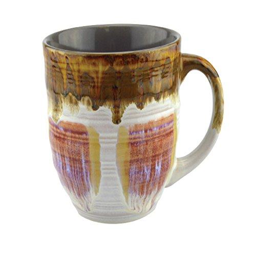 (Large Coffee Mugs 20 Ounce - Creative Glazed Ceramic Coffee and Tea Cups (Rose, 1))