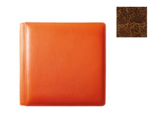 VINTAGE COGNAC smooth-grain leather #106 scrapbook album by Raika - 12x12 by Raika®