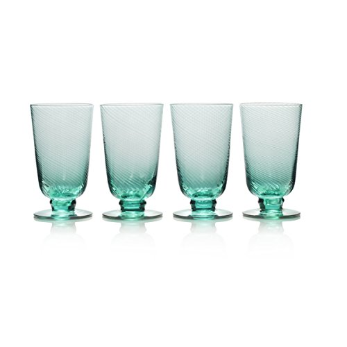 Mikasa 5228376 Avalon Iced Beverage Glass, Set of 4, 15-Ounce, Green