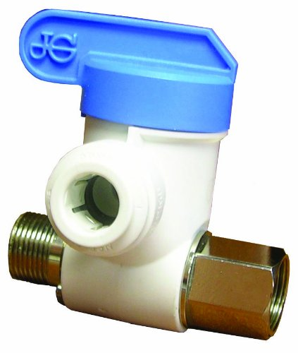 JOHN GUEST USA ASVPP2LF Push-Fit Adaptor Valve, 3/8