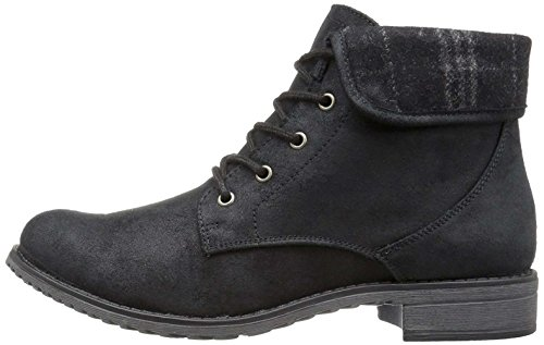 CLIFFS BY WHITE MOUNTAIN Women's Neponset Ankle Bootie, Black Plaid, 9.5 M (Womens Mountain Ankle Boot)