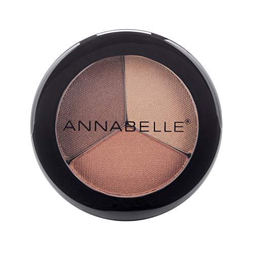 Annabelle Trio Eyeshadow, Crème Caramel, 0.09 oz