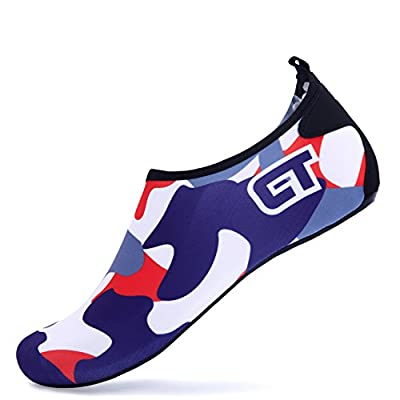 Giotto Barefoot Water Shoes Yoga Beach Swim Aqua Shoes for Women Men-DarkBlue-38-39