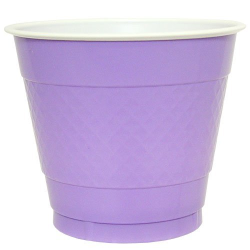Hanna K. Signature Collection 50 Count Plastic Cup, 9-Ounce, Hydrangea
