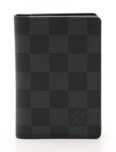 (ルイヴィトン) LOUIS VUITTON オーガナイザー ドゥ ポッシュ ダミエグラフィット カードケース PVC レザー 黒 N63143 中古 B07FSM3GFB