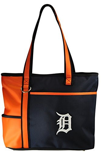 Detroit Tigers Logos - MLB Detroit Tigers Tote Bag with Embroidered Logo