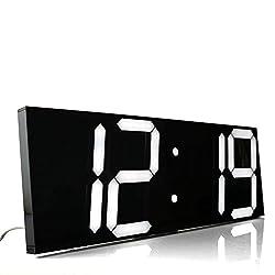 Chihai Remote Control Jumbo Digital Led Wall Clock(black Shell)