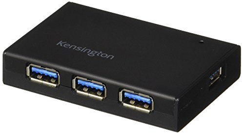 Kensington UH4000C 4 Port Powered USB Hub 3.0 with 15W/3Amp Power Adapter - Supply Kensington Power