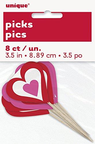 Unique 49163 Valentine Heart Toothpicks
