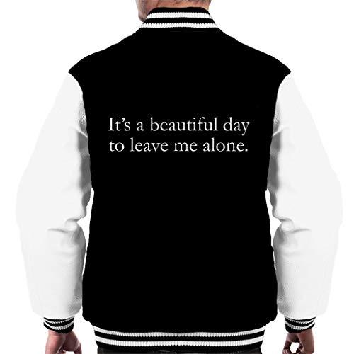 Homme Belle Varsity Laisser Une Noir Pour Me Seul Blanc Journée Coto7 Veste C'est vTqwExA