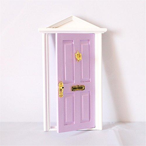 dreamflyingtech 1:12 Purple Miniature Wooden Fairy Dollhouse Dolls with Hardware Décor Kid by dreamflyingtech (Image #2)