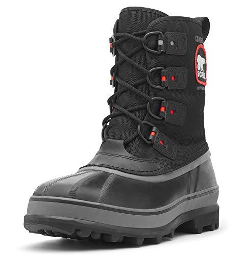 Sorel Men's Caribou Extreme Snow Boot,Black/Shale,8 M US (Best Boots For Snow Removal)