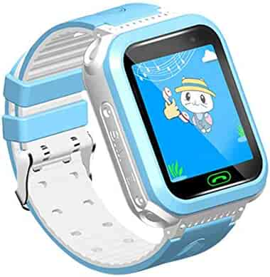 S10 Children Smart Watch,Multi Funtion GPS Tracker Smart Wristwatch, SOS Anti-Lost Soft Silicone Watch,Compatible with iOS/Android by Tonsee