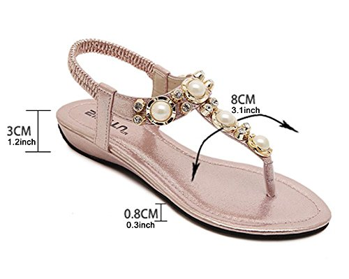 Gold Ladies Womens Shoes Flip Flats Casual Flops Thong Sandals Post Summer Toe KUFV 71qwTBw