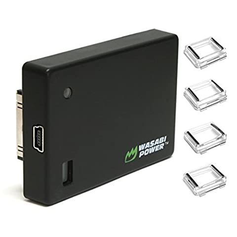Wasabi Power Extended Battery compatible with GoPro HERO4, HERO3+, HERO3 (with Backdoors) (Wasabi Gopro Battery 4)