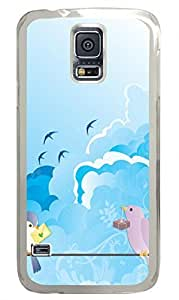 Love Birds Clear Hard Case Cover Skin For Samsung Galaxy S5 I9600
