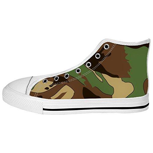 Alto Ginnastica Lacci Camuffamento Women's Shoes Da Tetto Custom Delle I Canvas Scarpe vqXqOw